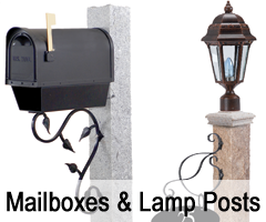 NH Granite Mailbox & Lamp posts