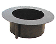 Unilock Brussels Sunset Round Fire Pit Kit Smokeless Insert Black