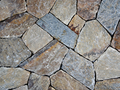 Connecticut Tan Mosaic - Fieldstone Veneer Natural Stone Veneer Pelham, NH
