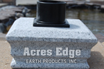 GCB Granite Light Post Cap with Mount Acres Edge, Pelham  NH Landscape & Hardscape Supply, Landscaping & Hardscaping Supplies