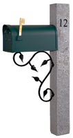 Granite Mailbox Lamp hitching fence Posts Acres Edge, Pelham  NH Landscape & Hardscape Supply, Landscaping & Hardscaping Supplies