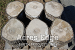 "Cement Log Rounds 14"" Diameter Acres Edge, Pelham  NH Landscape & Hardscape Supply, Landscaping & Hardscaping Supplies"