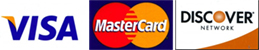 Visa, Mastercard & Discover Accepted