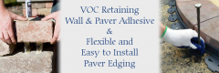 Pelham, NH VOC Retaining Wall & Paver Adhesive & Flexible and Easy to Install Paver Edging Rails