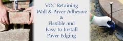 Pelham, NH VOC Retaining Wall & Paver Adhesive & Flexible and Easy to Install Paver Edging Rails