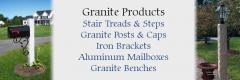 Pelham NH Granite Stair Treads, Granite Posts, Mailbox Brackets, Mailboxes, Granite Mailbox Posts, Granite Lamp Posts, Granite Benches