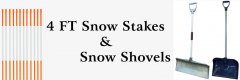 Pelham, NH 4 FT Snow Stakes & Snow Shovels