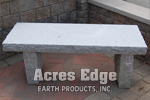 "NH Gray Square Bench (48"" x 18"" x 3"") Acres Edge, Pelham  NH Landscape & Hardscape Supply, Landscaping & Hardscaping Supplies"