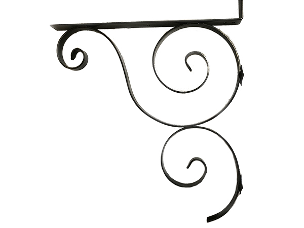 156 Iron Mailbox Bracket Black & Copper Acres Edge, Pelham  NH Landscape & Hardscape Supply, Landscaping & Hardscaping Supplies