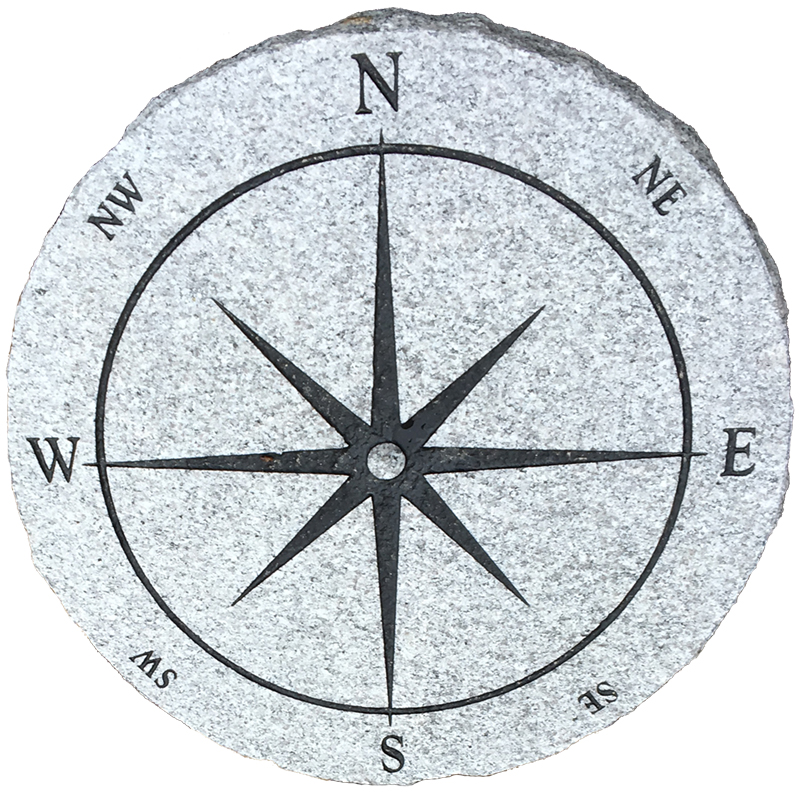 "Compass Rose Paver Slab 27"" x 2"" Acres Edge, Pelham  NH Landscape & Hardscape Supply, Landscaping & Hardscaping Supplies"