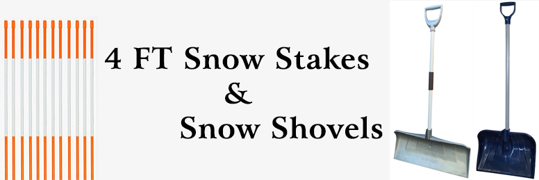 4 FT Snow Stakes Snow Shovels